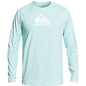 Quiksilver Men's Solid Streak Long Sleeve Rash Guard (Regular and Big & Tall)