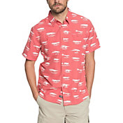 Quiksilver Men's Waterman Wake Lures Short Sleeve Shirt