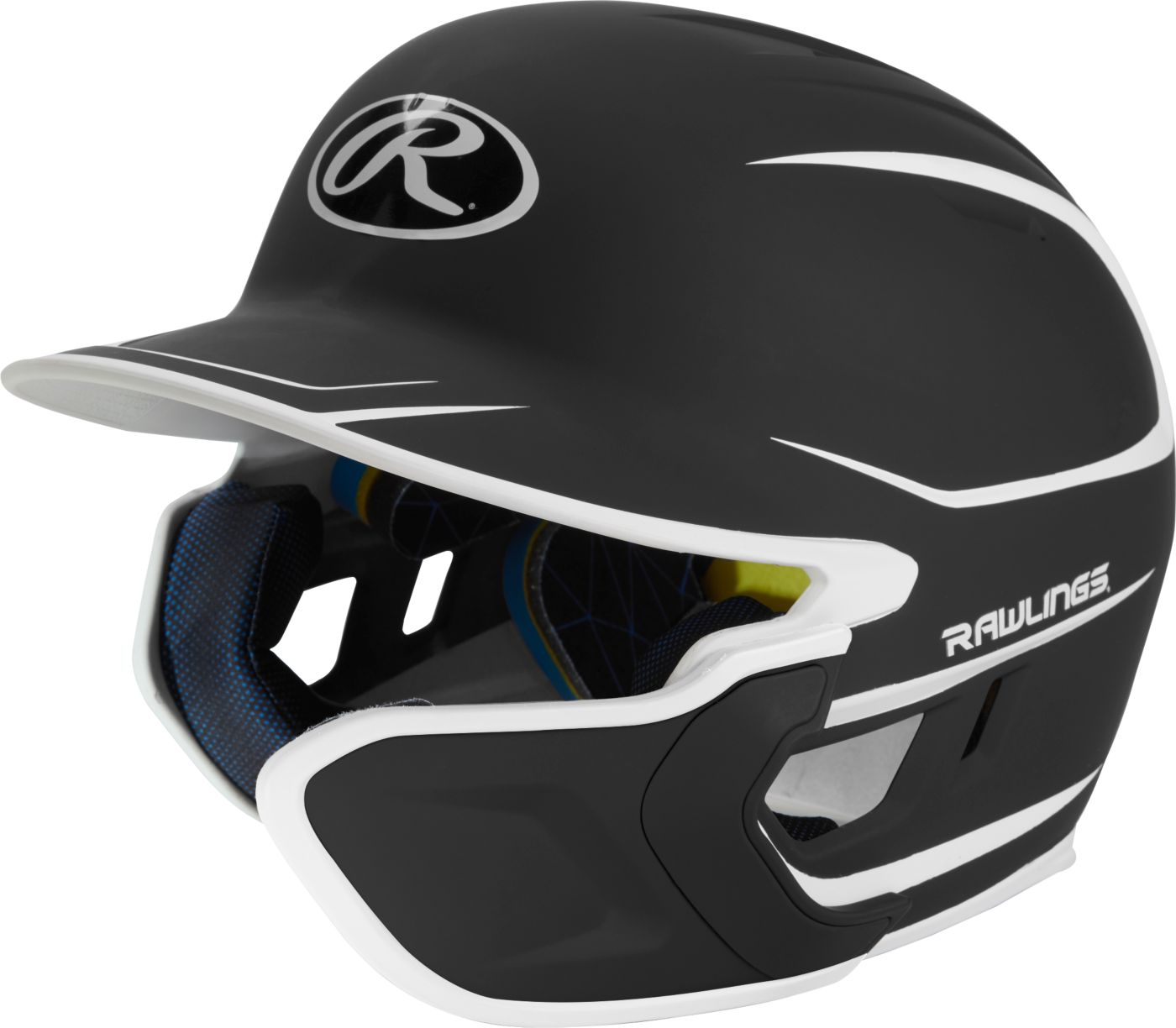 Rawlings Adult MACH Two-Tone Batting Helmet w/ Jaw Flap