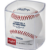 Rawlings 2018 World Series Baseball w/ Display Case
