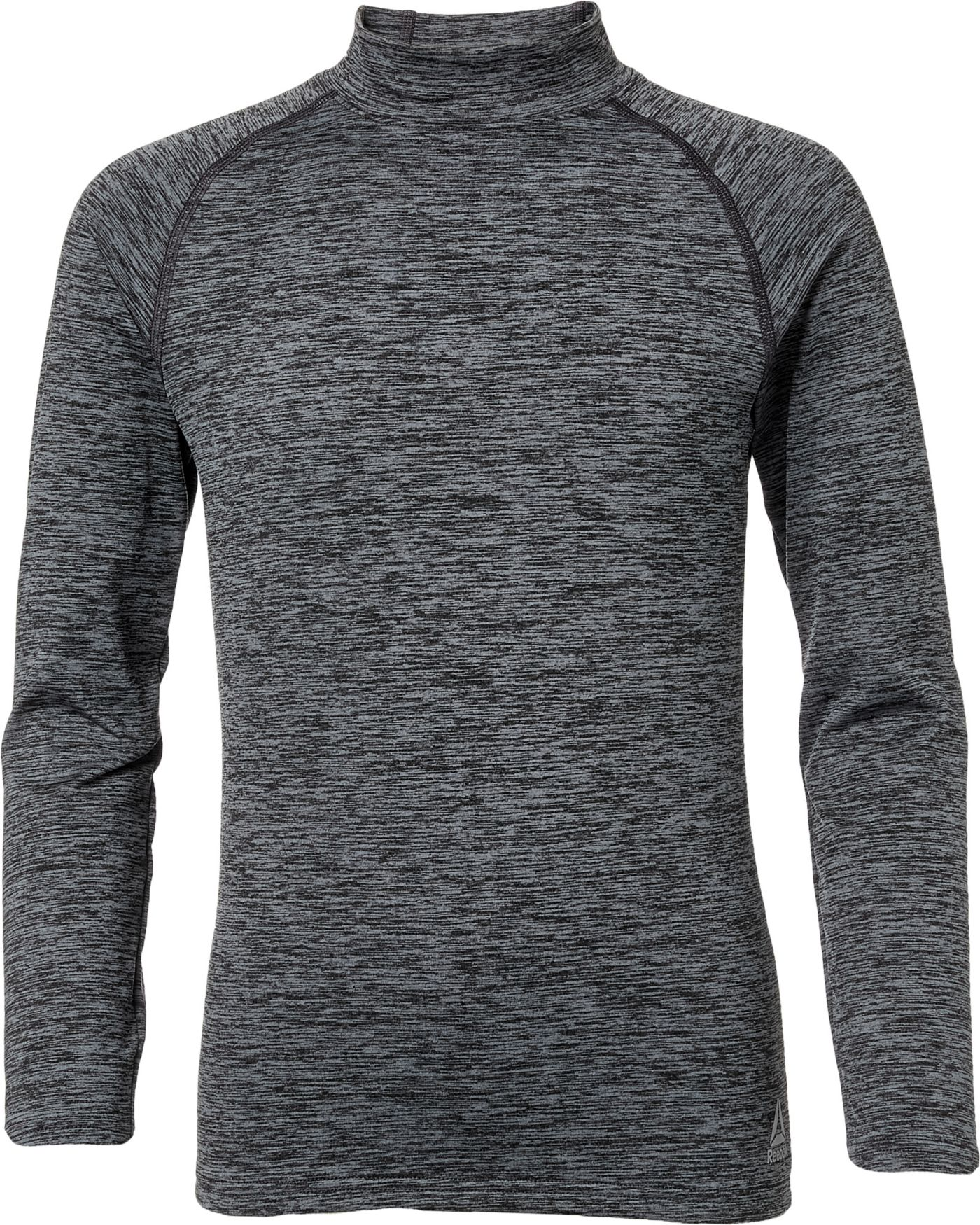 Reebok Boys' Cold Weather Compression Spacedye Mockneck Long Sleeve Shirt