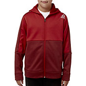 Reebok Boys' Heather Performance Fleece Zip Up Hoodie
