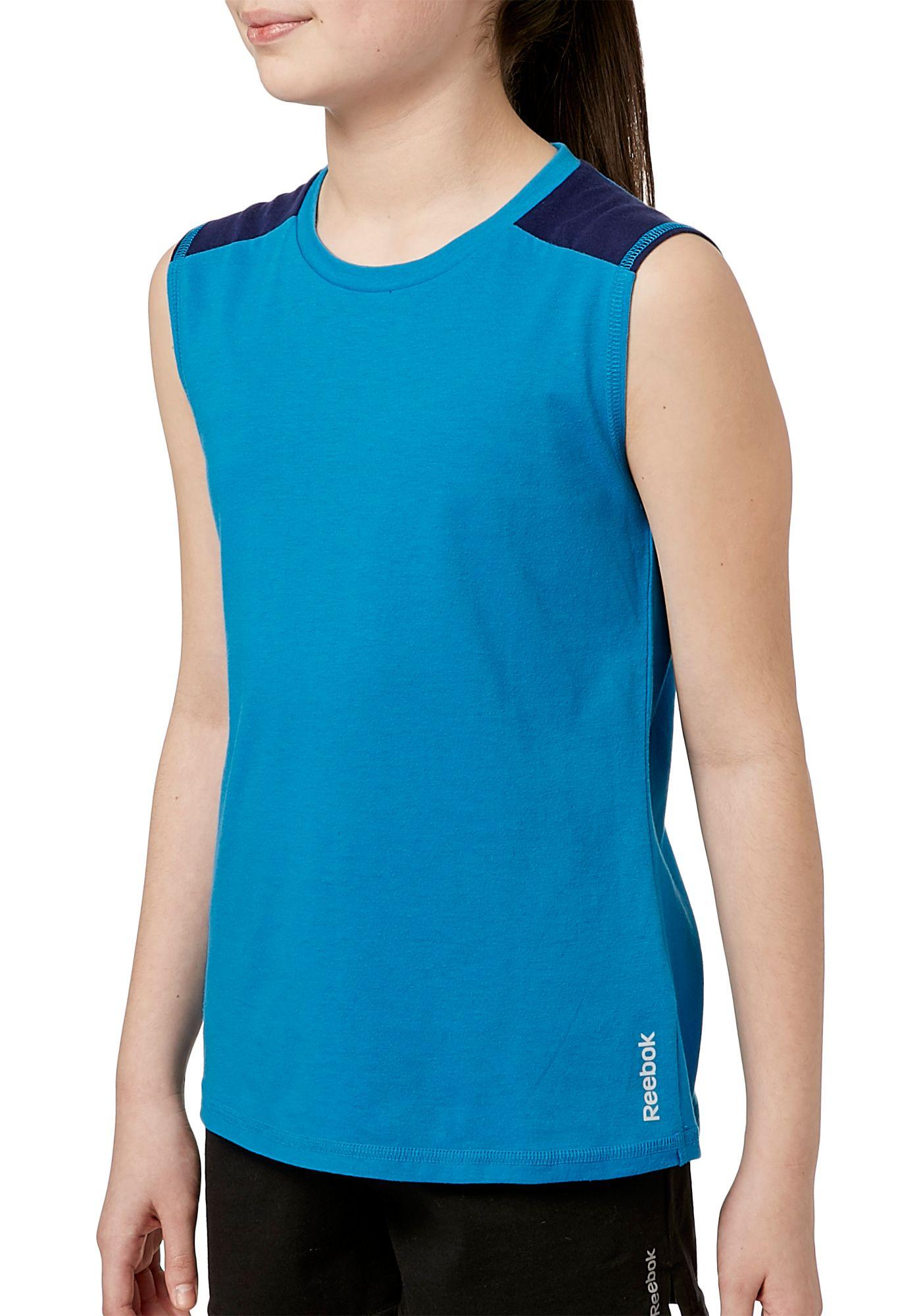 Reebok Girls' Cotton Muscle Tank Top