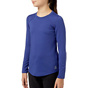 Reebok Girls Cold Weather Compression Crewneck Long Sleeve Shirt