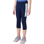 Reebok Girls' Side Stripe Cotton Capris