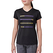 Reebok Girls' Performance Graphic V-Neck T-Shirt