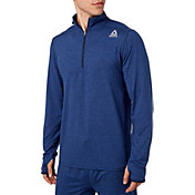 Reebok Men's 24/7 Jersey 1/2 Zip Long Sleeve Shirt