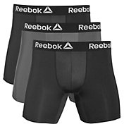 Reebok Men's Performance 6'' Boxer Briefs – 3 Pack