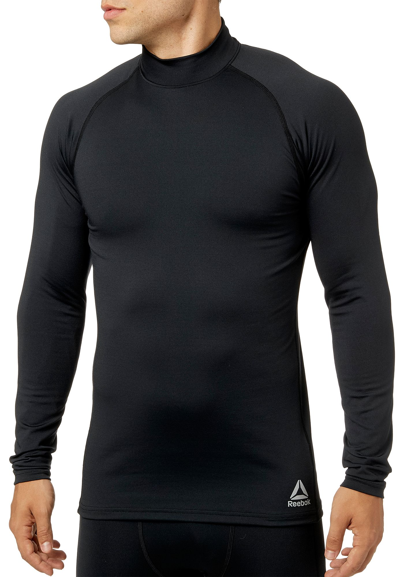 Reebok Men's Cold Weather Compression Mock Neck Long Sleeve Shirt