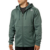 Reebok Men's Heather Performance Fleece Full Zip Hoodie