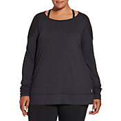 Reebok Women's Plus Size 24/7 Jersey Long Sleeve Shirt