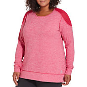 Reebok Women's Plus Size 24/7 Jersey Long Sleeve Shirt