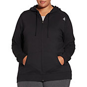 Reebok Women's Plus Size Core Cotton Jersey Zip Front Hoodie