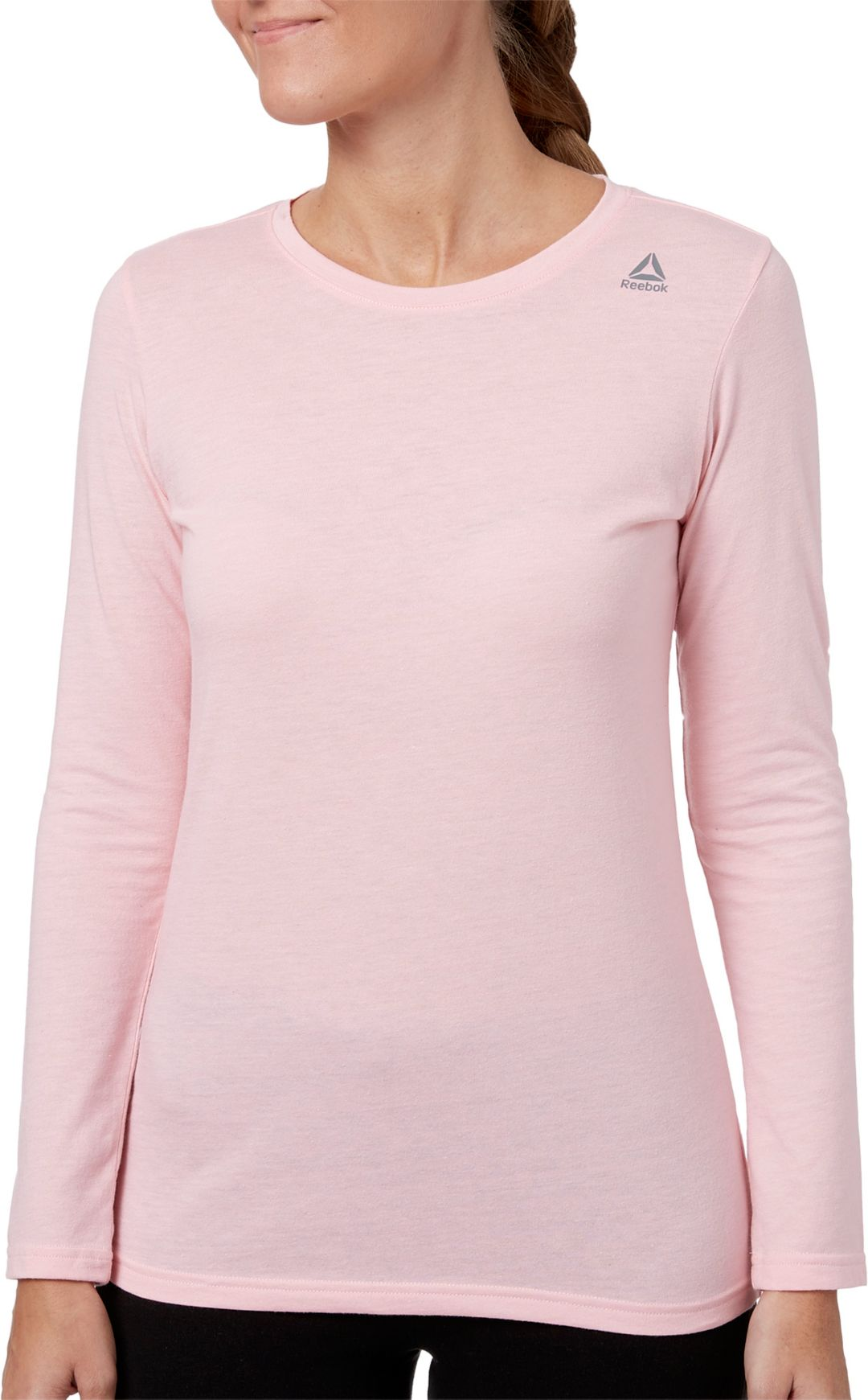 d68e68f95b Reebok Women's Core Cotton Jersey Long Sleeve Shirt