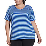 Reebok Women's Plus Size Stripe T-Shirt