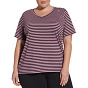 Reebok Women's Plus Size Stripe T-Shirt