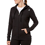 Reebok Women's Core Cotton Jersey Zip Front Hoodie