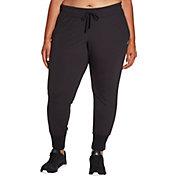 Reebok Women's Plus Size Fleece Jogger Pants