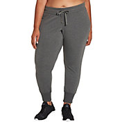 Reebok Women's Plus Size Fleece Heather Jogger Pants