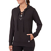 Reebok Women's Fleece Popover Lace Up Hoodie