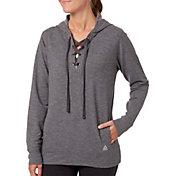Reebok Women's Fleece Popover Heather Lace Up Hoodie