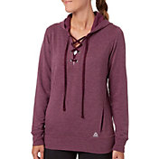 Reebok Women's Fleece Popover Heather Lace Up Hoodie