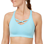 Reebok Women's Heathered Seamless Front Interest Sports Bra