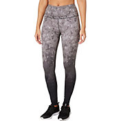 Reebok Women's High Waist Printed Stretch Cotton Leggings