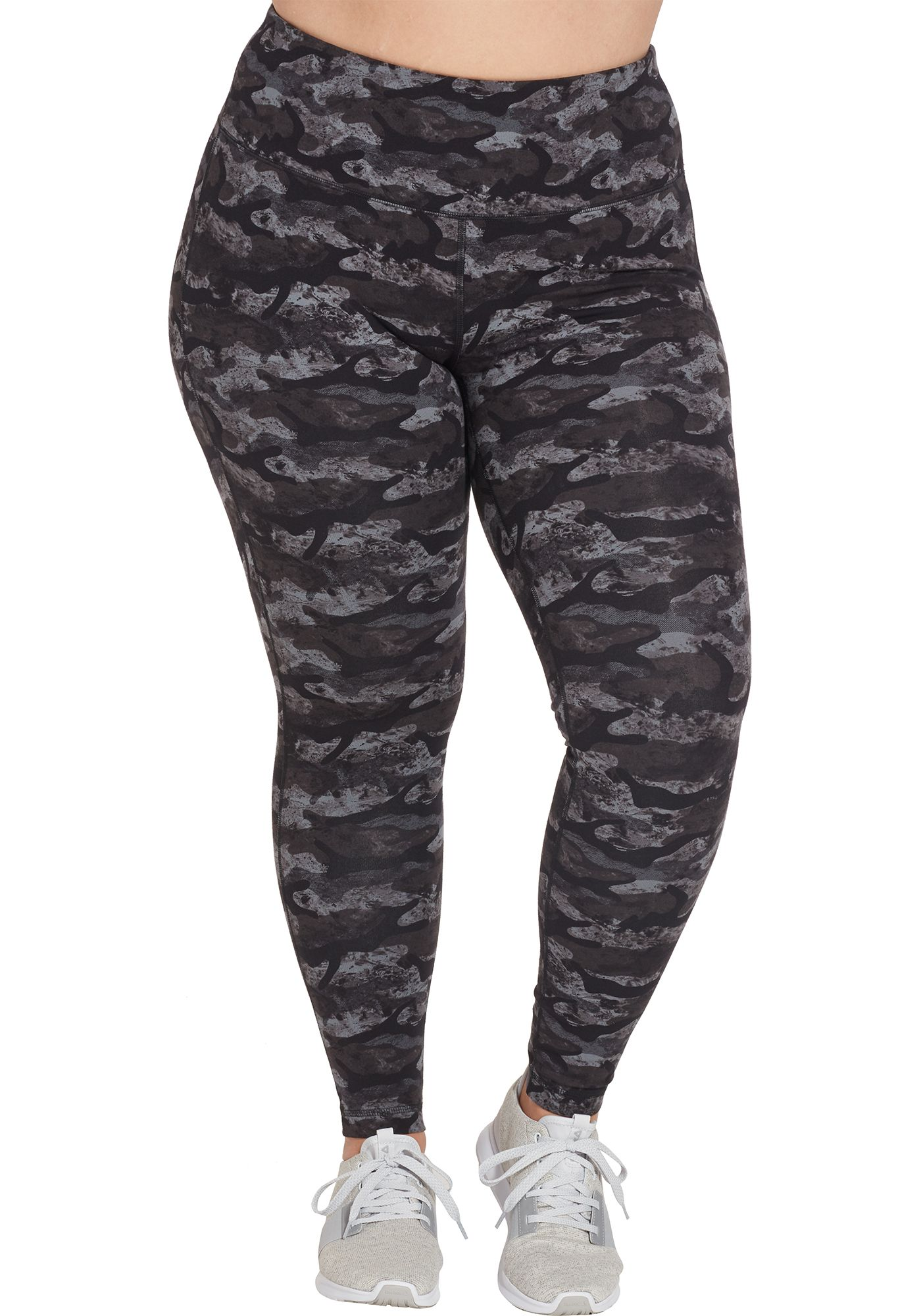 Reebok Women's Plus Size High Waisted Printed Stretch Cotton Leggings