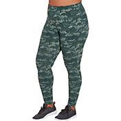 Reebok Women's Plus Size High Waisted Printed Stretch Cotton Leggings