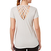 Reebok Women's Heather Cross Back T-Shirt