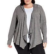 Reebok Women's Plus Size 24/7 Hooded Cardigan