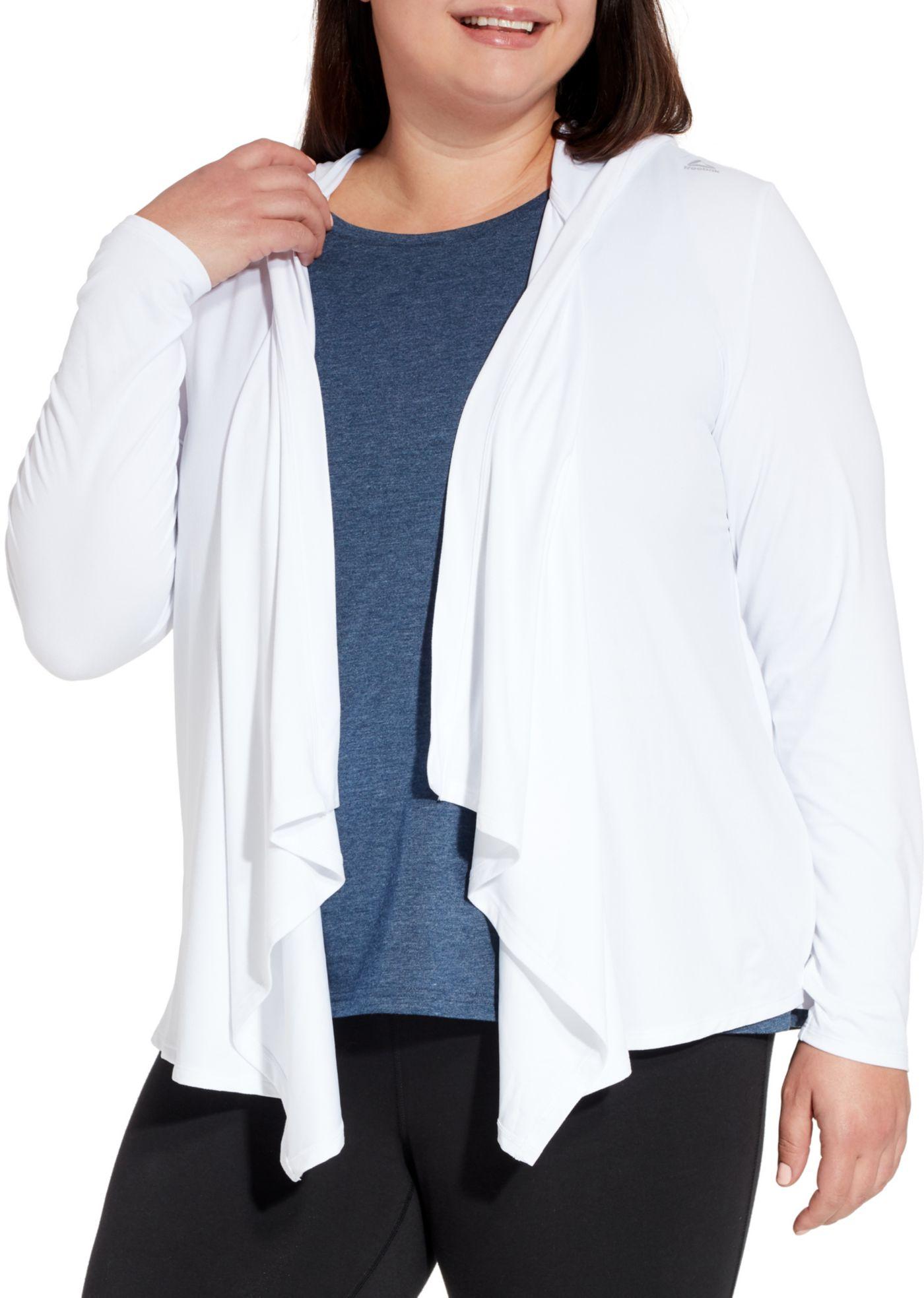 Reebok Women's Plus Size 24/7 Hooded Cardigan