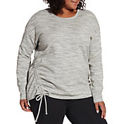 Reebok Women's Plus Size Fleece Side Cinch Crew Sweatshirt