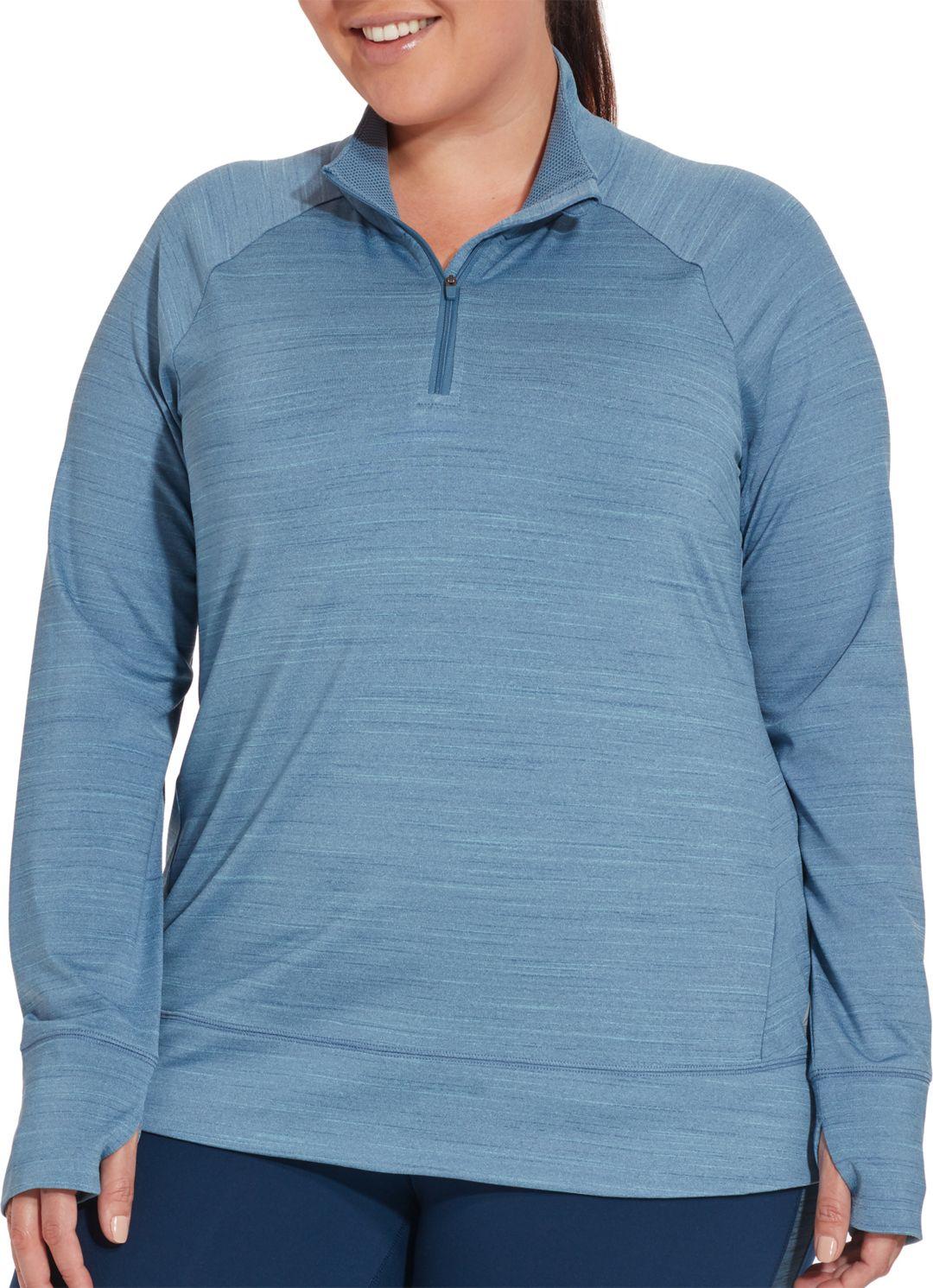 96932eca Reebok Women's Plus Size Cold Weather Compression 1/4 Zip Long Sleeve Shirt