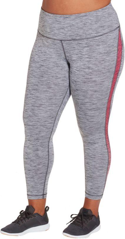Reebok Women's Plus Size Gradient Pieced 7/8 Tights