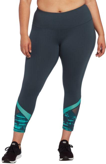 74b519aa98d Reebok Women's Plus Size Performance Color Block Ankle Tights. noImageFound
