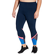 Reebok Women's Plus Size Performance Color Block Ankle Tights