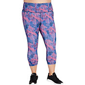 Reebok Women's Plus Size Printed Performance Pocket Capris