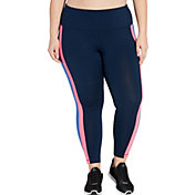 Reebok Women's Plus Size Side Panel Performance 7/8 Tights