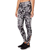 Reebok Women's Printed Stretch Cotton Cross Ankle 7/8 Tights