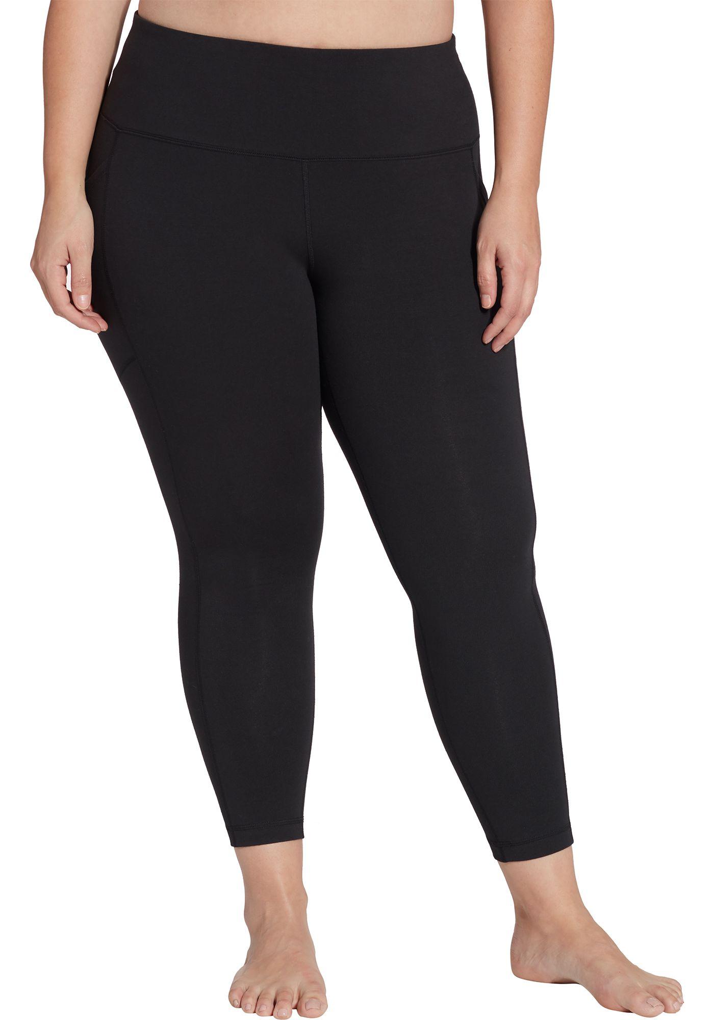Reebok Women's Plus Size Stretch Cotton Ankle 7/8 Tights