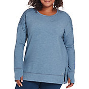 Reebok Women's Plus Size Side Slit Fleece Sweatshirt