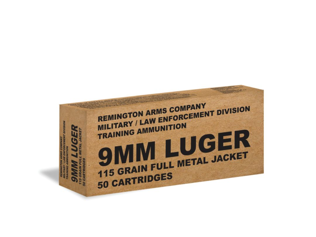 Remington Military and Law Enforcement 9mm FMJ Handgun Ammunition