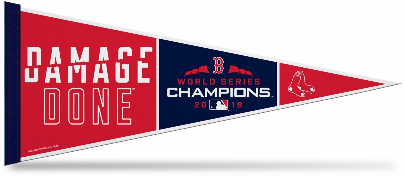 Rico 2018 World Series Champions Boston Red Sox 'Damage Done' Pennant