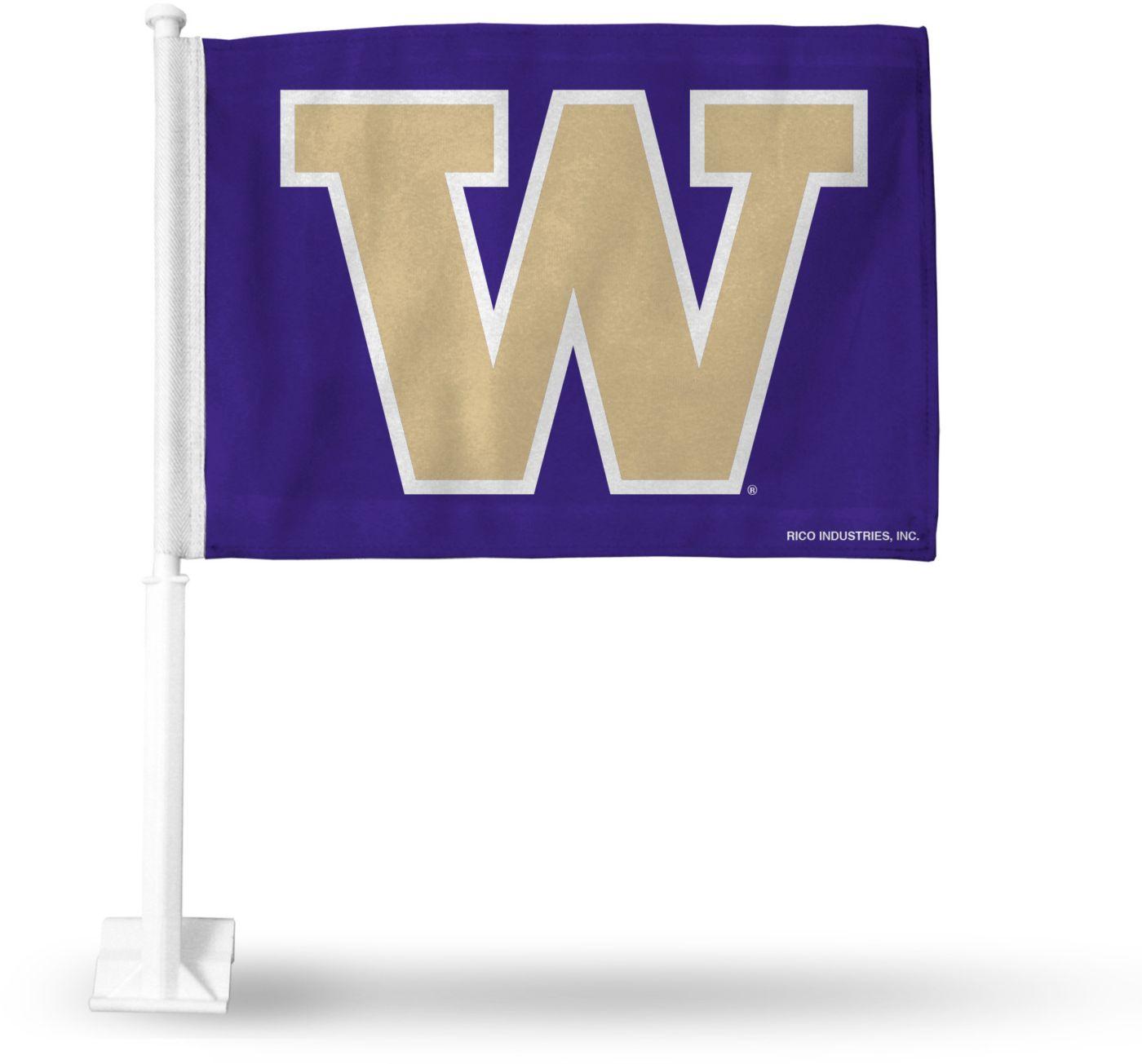 Rico Washington Huskies Car Flag