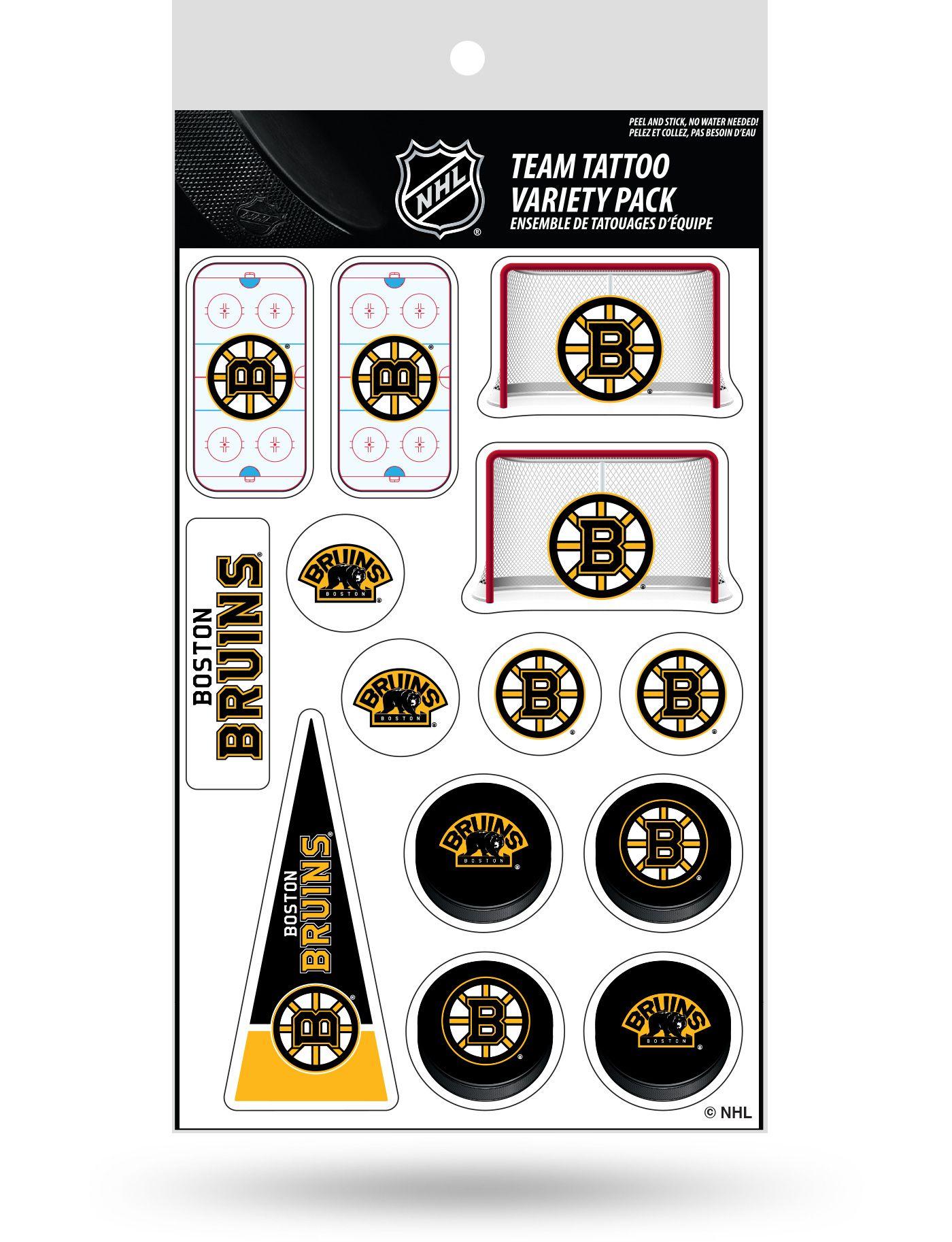 Rico Boston Bruins Tattoo Variety Pack