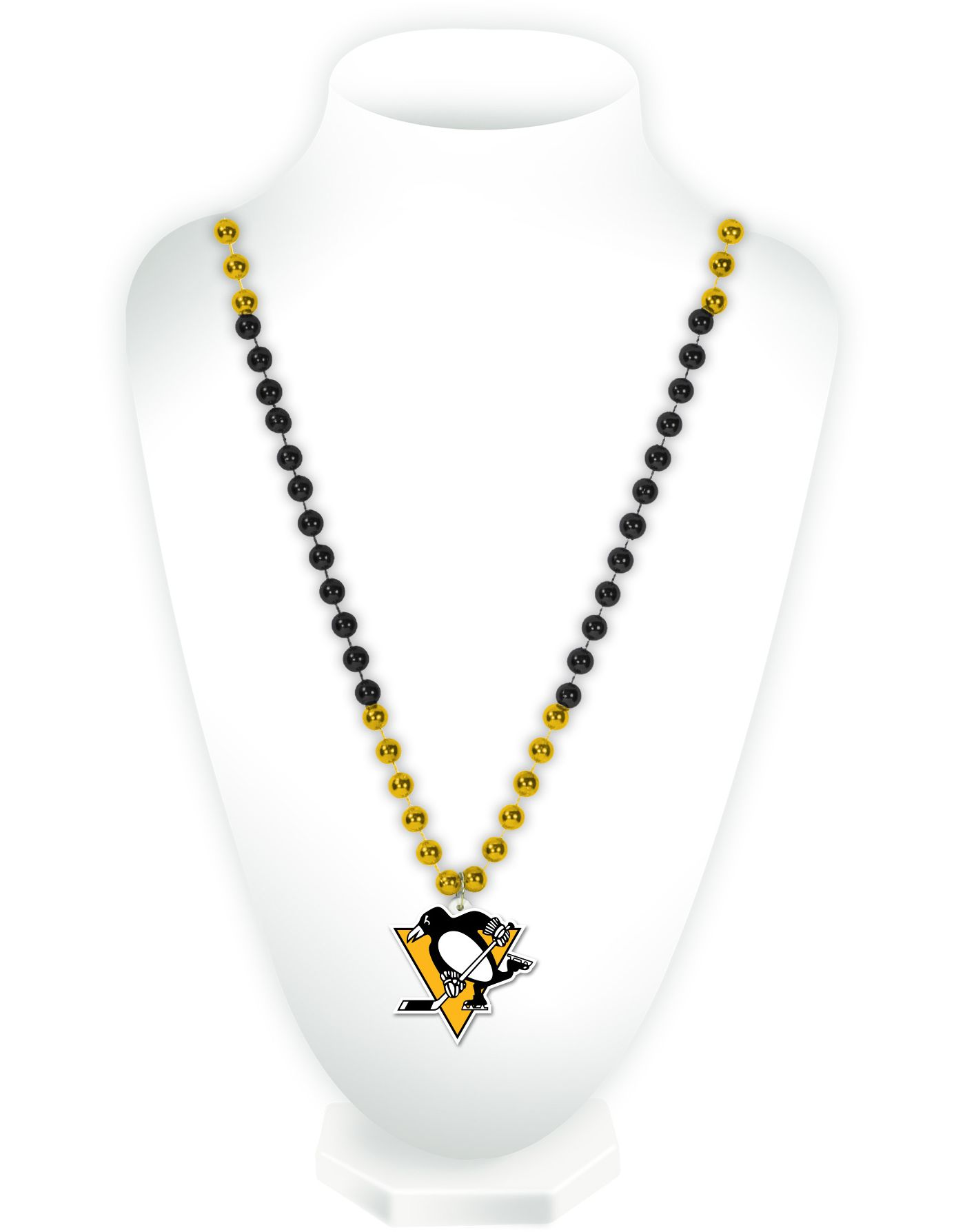 Rico Pittsburgh Penguins Beaded Logo Necklace