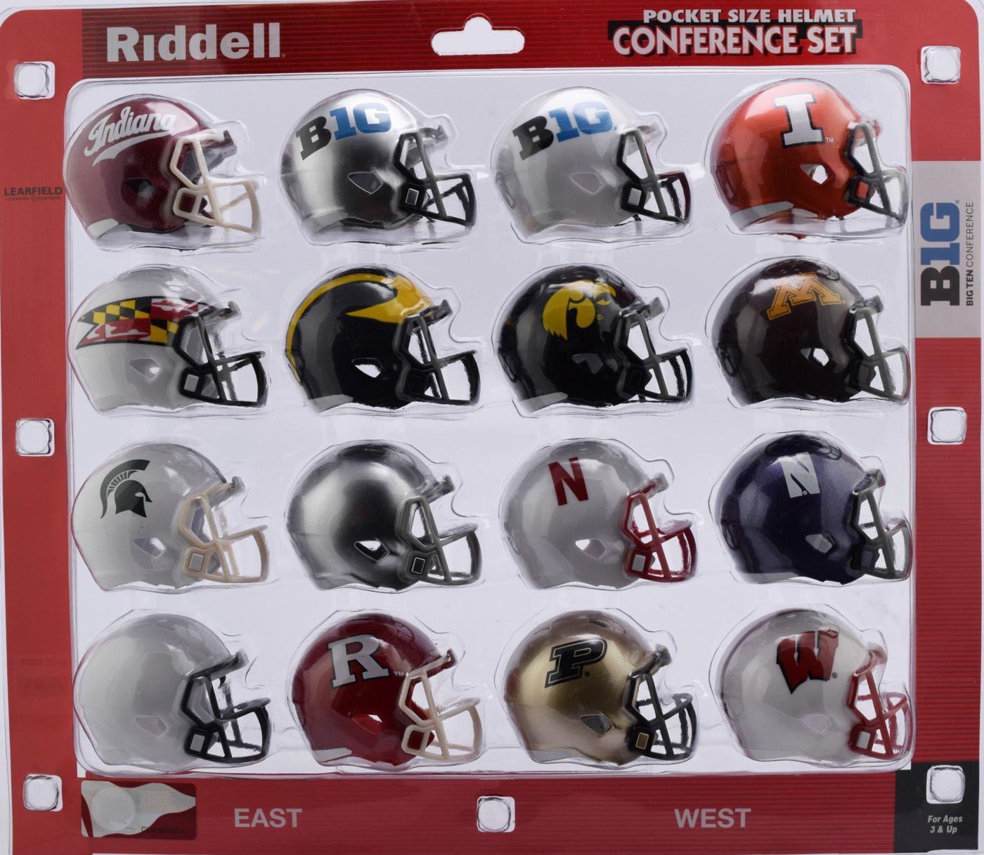 Riddell NCAA Big 10 Pocket Size Helmet Set
