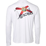 Scales Gear Men's Raise Flags Florida Performance Long Sleeve Shirt